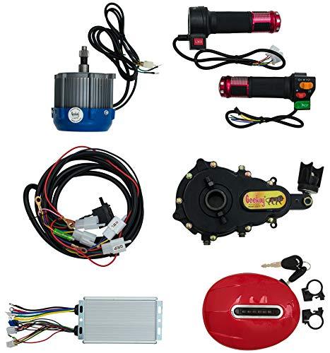 geekay diy 48 v, 750 watt bldc pedal electric rickshaw motor kit with gear set ( 38 x 30 x 18 cm , Multi color)
