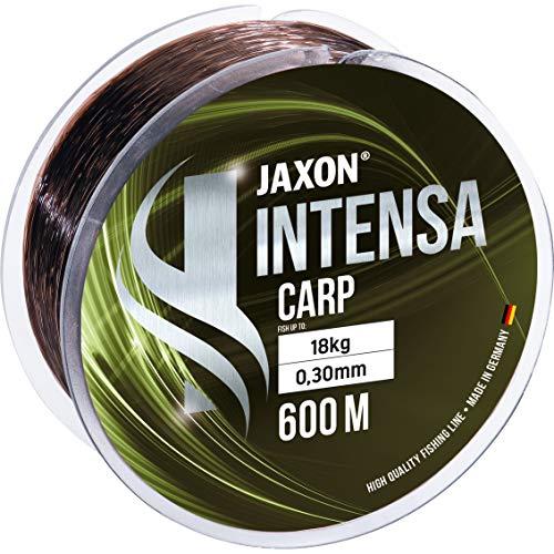 Jaxon Angelschnur 600m INTENSA CARP Spule schnell sinkende Karpfenschnur Feederschnur (0,27mm / 15kg)