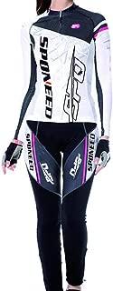 sponeed Women's Cycle Jersey Full Sleeve Cushioned Pants Bike Tights Gel Padded Road Bike Moutain Riding Wear