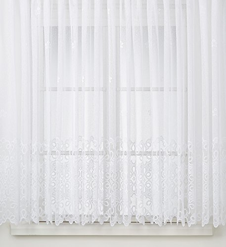 Anna Cortina 8863781L0.105x300 Langstore - Tenda in Jacquard 175x300 Bianco