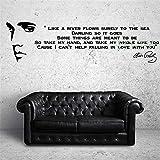Wandtattoo Schlafzimmer Elvis Presley Song Lyrics Like A River Music Sticker Art Decor for living room boys bedroom