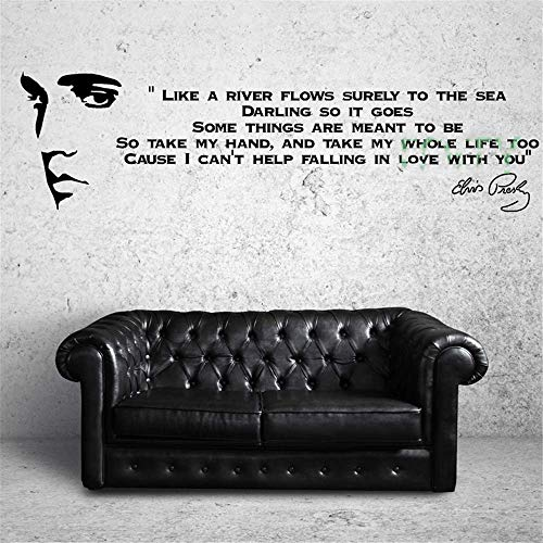 Wandtattoo Schlafzimmer Elvis Presley Song Lyrics Like A River Music Sticker Art Decor for living room boys bedroom