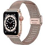 Upeak Compatible avec Bracelet Apple Watch 38mm 40mm 42mm 44mm, Bracelet de Remplacement en Acier...