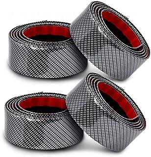 4pcs Car Stickers 5D Carbon Fiber Rubber Styling Door Sill/Front Rear Bumper Guard Protector Goods Accessories