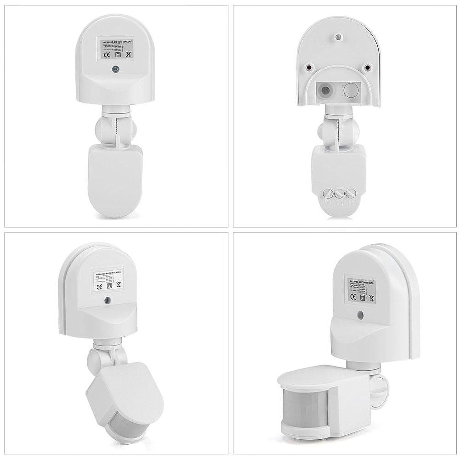 Motion Detector, Infrared Sensor Motion Detector Adjustable PIR Body Motion Detector for Corridor, Garage, Terrace, Toilet.(white)