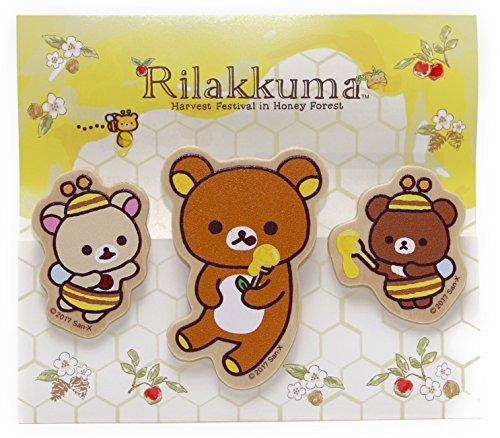 ナガノファクトリー リラックマ クリップセット(はちみつ) RK483