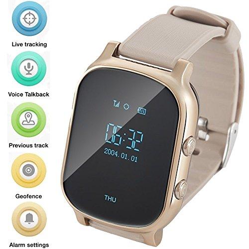 Gps Horloge Voor Kinderen Senioren, Smart Horloge Telefoon Gps Tracker Met Anti Verloren SOS Oproep Locatie Finder Stappenteller GPS LBS Real Tracking Op APP Ondersteuning Android IOS T58