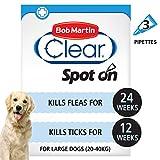 Bob Martin Clear Flea & Tick Fipronil Spot On for Large Dog, 3