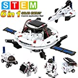 MAN NUO STEM Toys Solar Power Robot Kit 6 in 1 Educational Science Kits Toys Learning Science Space Building DIY Science Gifts Toys for Aged 8 9 10-12 Boys Girls Kids