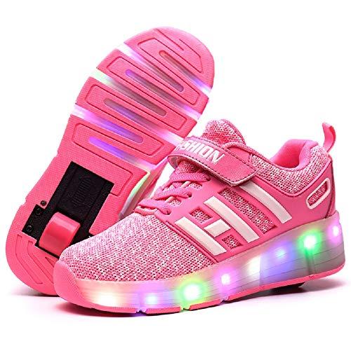 Letao Led Luces Zapatos con Ruedas para Pequeños Niños y Niña Automática Calzado de Skateboarding Deportes de Exterior Patines en Línea Brillante Mutilsport Aire Libre y Deporte Gimnasia Zapatillas