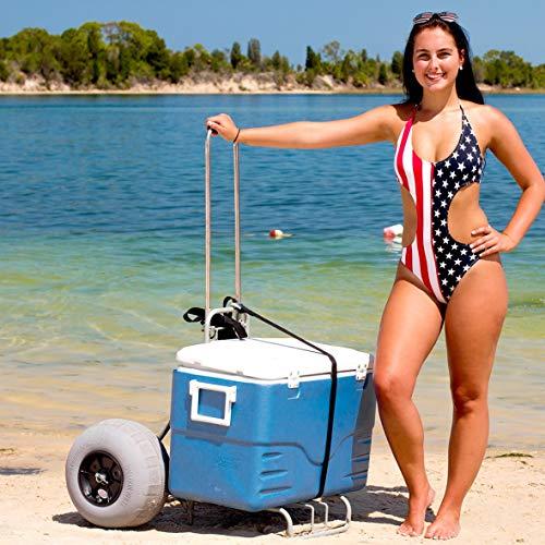 Folding Beach CART Large Balloon Tires Challenger J2020 Sand & Beach Trolley