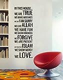 Newsee Decals Islamic Sticker We Love Allah Muslim Wall Decor Art Vinyl Decals Arab Quran Calligraphy