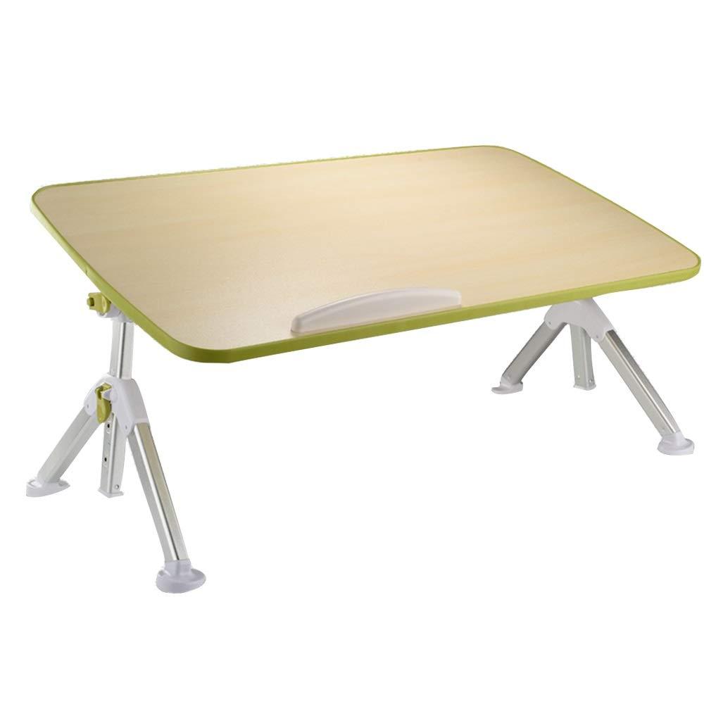 ワークベンチ 折りたたみテーブル、木製折りたたみリフティングコンピュータトレイ朝食トレイデスクベッド怠zyな用品は、小さなコーヒーテーブル、オリーブグリーンとして使用できます (Color : A)
