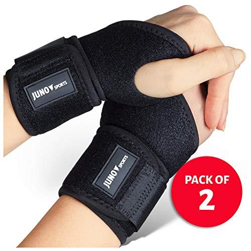 JunoSports Adjustable Athletic Wrist Brace Support for Carpal...