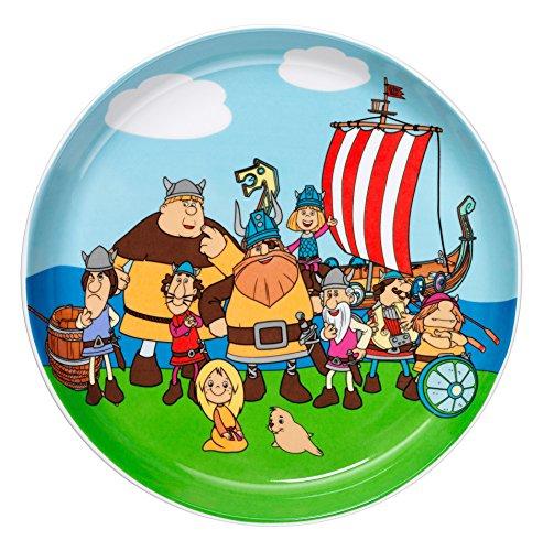 WMF Vicky el Vikingo - Plato para niños de porcelana, Ø19cm (WMF Kids infantil)