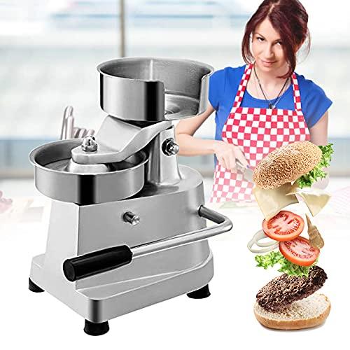 ZhiLianZhao Hamburger Pressa Manuale, Hamburger Commerciale Patty Press Maker, con 500 Carte Forno,...