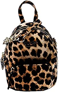 Guess Women's Evan Mini Cross Body Stylish Logo, Straps with Golden Chain Leather-Multicolor