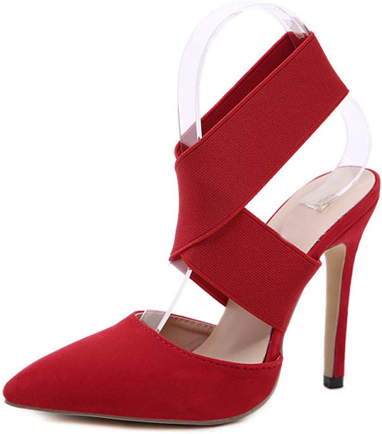 GHIJN High Heels Autumn Pumps Sandals 12CM Fashion Pointed Toe Red Black Wedding Thin Heel Woman shoes Size 3540