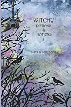 Witchy Potions & Notions I: List bullet page on one side with lined Notebook on the opposite side