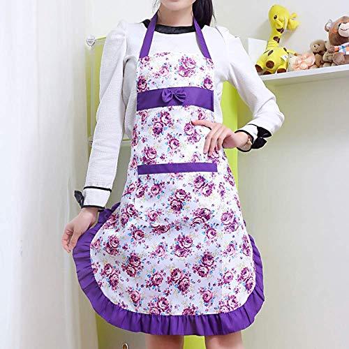 YXDZ Schürze Küche Weibliches Öl Und Antifouling Taille Shop Coffee Shop Arbeitskleidung Tee Shop Süße Heimat Nordic Lila 2