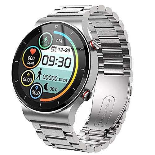 2021 novo luxo homens inteligentes relógio esportes assistir tela cheia toque bluetooth chamada de taxa de coração monitoramento ip67 impermeável para homens (Color : S silver)