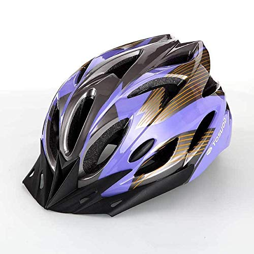 Bicycle helmet mountain bike helmet row helmet exercise outdoor safety cap wheel slippery helmet custom (Color : Purple)