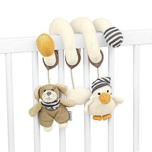 Sterntaler Spielzeugspirale, Hund Hanno, Inklusive Rassel und Knisterpapier, Alter: Für Babys ab der Geburt, Beige/Braun