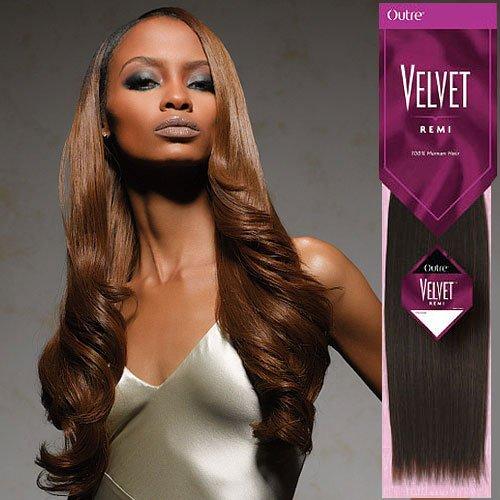 Outre Velvet Remi Yaki Weaving Hair 10S Color 1B