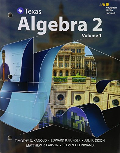 HMH Algebra 2: Interactive Student Edition, Volumes 1 & 2 Bundle 2016