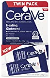 CeraVe Healing Ointment | 2 Pack (0.35 Ounce Each) | Cracked Skin Repair Skin Protectant with Petrolatum Ceramides | Lanolin & Fragrance Free