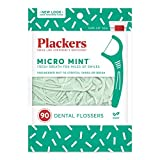 Plackers Micro Mint Dental Flossers, 90 Count (Pack of 3)