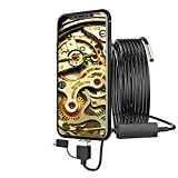 GYTOO USB 3 in1 Telephoto Endoscope 3.9mm IP67 Waterproof 1080P Borescope Inspection Camera with 6 LEDs Snake Cable for Android Phone Tablet Device,PC,Laptop