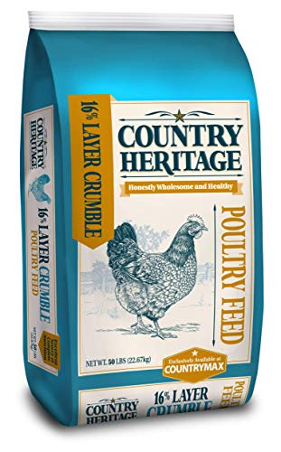 Country Heritage Hen Layer Crumbles Feed 16% 50 Pounds