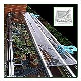 Glas Plane Transparent, Wasserdicht Schwerlast Frostschutz-Regenschutzfolie Isolationsüberdachung Für Pavillons Carports Pools (Color : Clear, Size : 3X6M)