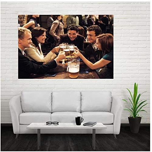 Gopflbh How I Met Your Mother Serie TV Poster e Stampe Wall Art Canvas Painting Stampe su Tela per la Decorazione della Parete di casa -50x75cm Senza Cornice