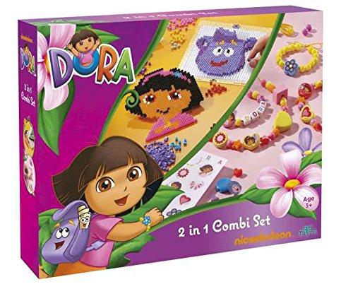 Nickelodeon Boite dactivités Dora - création de Colliers & Bracelets + Perles à Repasser