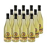 Les Tortues Gros Manseng Côtes de Gascogne Blanc 2019 - Domaine d'Uby - Vin IGP Blanc du Sud-Ouest - Lot de 12x75cl - Cépage Gros Manseng