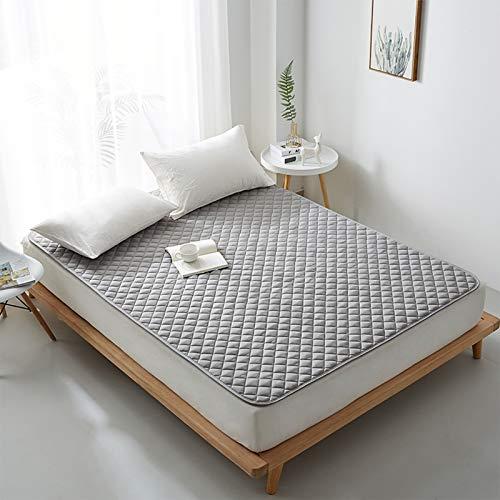 MYYU Colchón Futón Tatami Colchoneta Japoné Colchón Suave Plegable Sleeping Pad Tatami De Piso Respirable,Gray 2,150 * 200cm