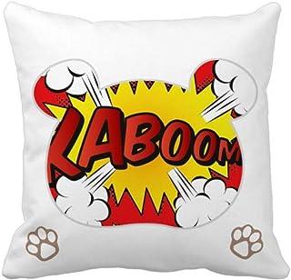OFFbb-USA Boom Exclamation Dialog - Funda cuadrada para almohada