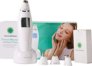 NEWDERMO Electirc Skin Care Beauty Device Diamond Tip Microdermabrasion Machine For Face And Body - Handheld,Home Use Blackhead Remover Pore Vacuum Cleaner With LCD Display