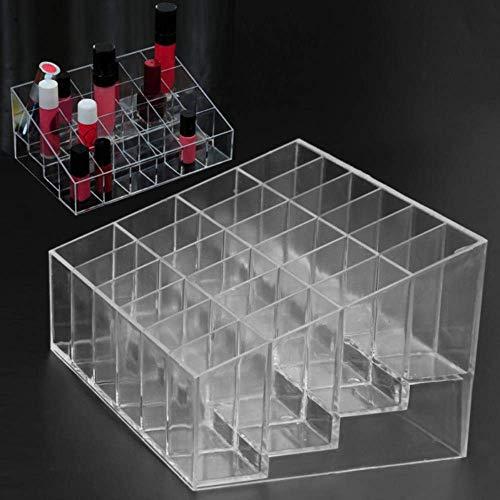 24 Grid Acryl Makeup Organizer Storage Box Cosmetische Box Lipstick Jewelry Box Case houder Display Stand make-up organisator Mooie en praktische cosmetische opbergdoos.