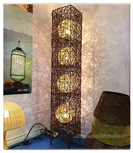 Zuidoost-Azië Rotan Vloerlamp Woonkamer Slaapkamer Verlichting Restaurant Hotel Inn Leisure Club Creatieve Vloerlamp