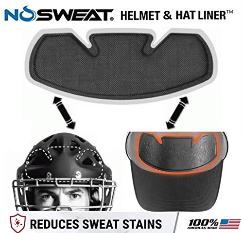 Sweat Liner - Baseball & Softball Hat   Batting Helmet   Catchers Mask Sweat Liner - Absorbs Dripping Sweat/Moisture Wicking Sweatband (Official) (12 Pack)