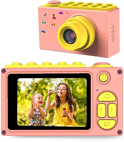 ShinePick Kinder Kamera, Digitalkamera Kinder, 8MP / HD 1080P / 2 Inch Bildschirm / Foto & Video / Rahmen / Filter, Kinder Fotoapparat mit Speicherkarte, Xmas Geburtstag Geschenke für Kinder (Rosa)