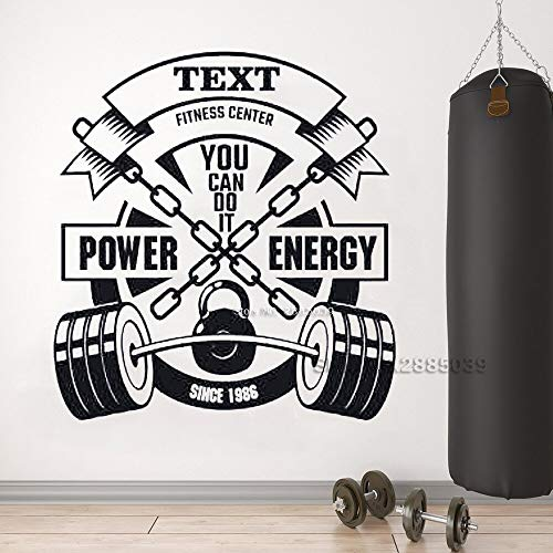 jtxqe Fitness Applique Fitness Center Fitness Logo Fitness Studio Wall Stickers Family Removeable Vinyl Used For Office Home Decal Art M 56Cm X 60Cm