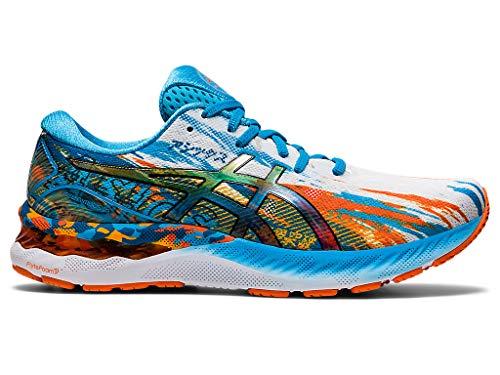 ASICS Men's Gel-Nimbus 23 Running Shoes, 7.5M, Digital Aqua/Marigold Orange