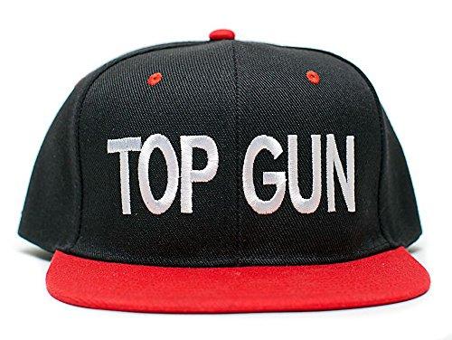 Top Gun Unisex-Adult Cap -One-Size Black/Red