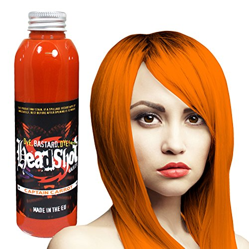 Orange Haarfarbe Headshot Captain Carrot, Semi-permanente Haartönung 150 ml