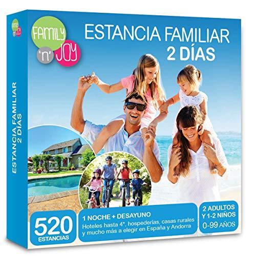 NJOY Experiences - Caja Regalo - ESTANCIA FAMILIAR 2 DÍAS - Más de 520 estancias familiares a escoger