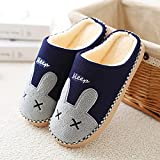 House Shoes Light Weight Terry Cloth Women Winter Home Slippers Unisex Warm House Slippers Indoor 36-37 Blue